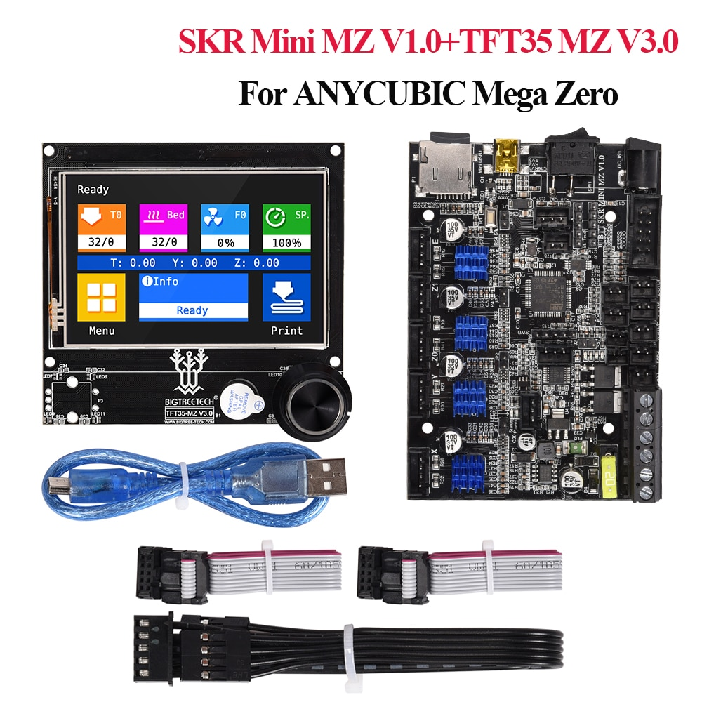 BIGTREETECH BTT SKR Mini MZ V1.0 32 Bit Board TFT35 MZ V3.0 شاشة تعمل باللمس LCD أجزاء طابعة ثلاثية الأبعاد لمجموعة ترقية Anycubic Mega Zero