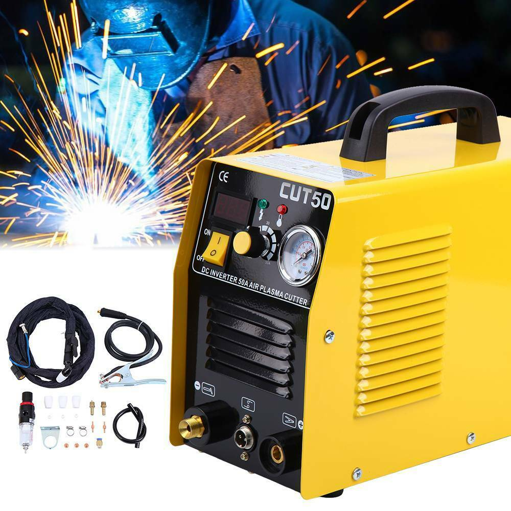 Portable Electric Digital Plasma Cutter 50AMP Digital Inverter Cutting 1-12MM with free accessories