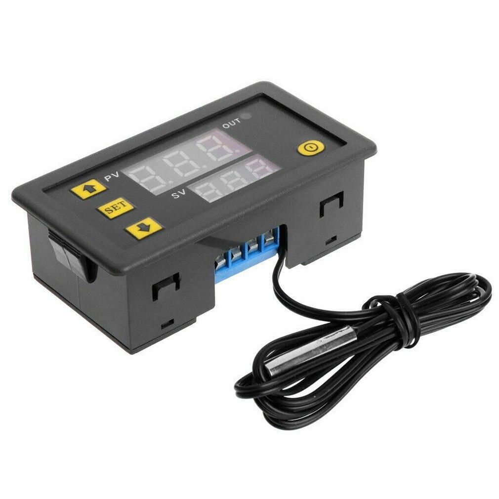 W3230 Lcd pantalla roja y azul Dc 12V 20A termostato Digital regulador de temperatura medidor reguladores
