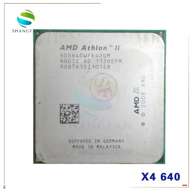 Четырехъядерный процессор AMD Athlon X4 640 X4-640 3 ГГц, процессор ADX640WFK42GM 95 Вт Socket AM3 938pin