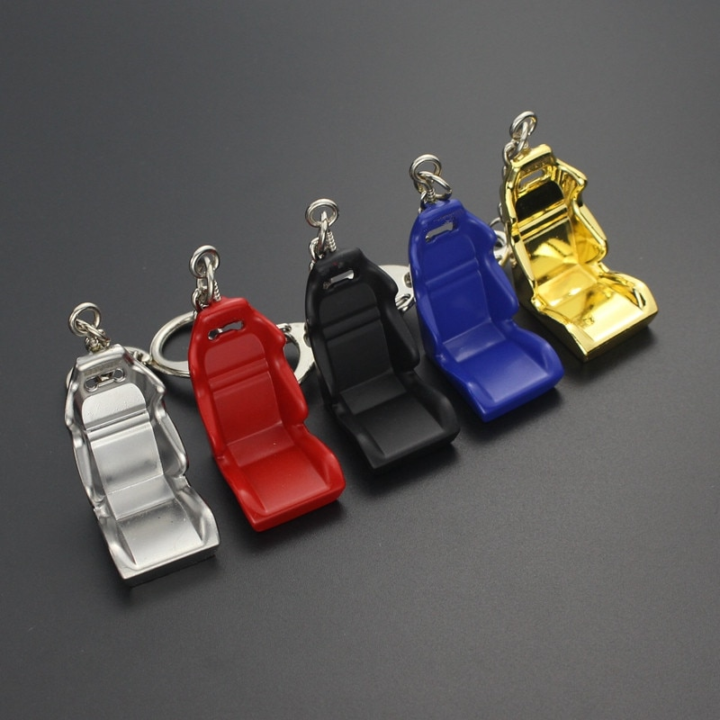 Llaveros creativos de coche de carreras de afinación para llaves, soporte de Metal para asiento, botella, rueda, tuercas, Moto, llavero de baratija, Gadgets, accesorios para automóviles