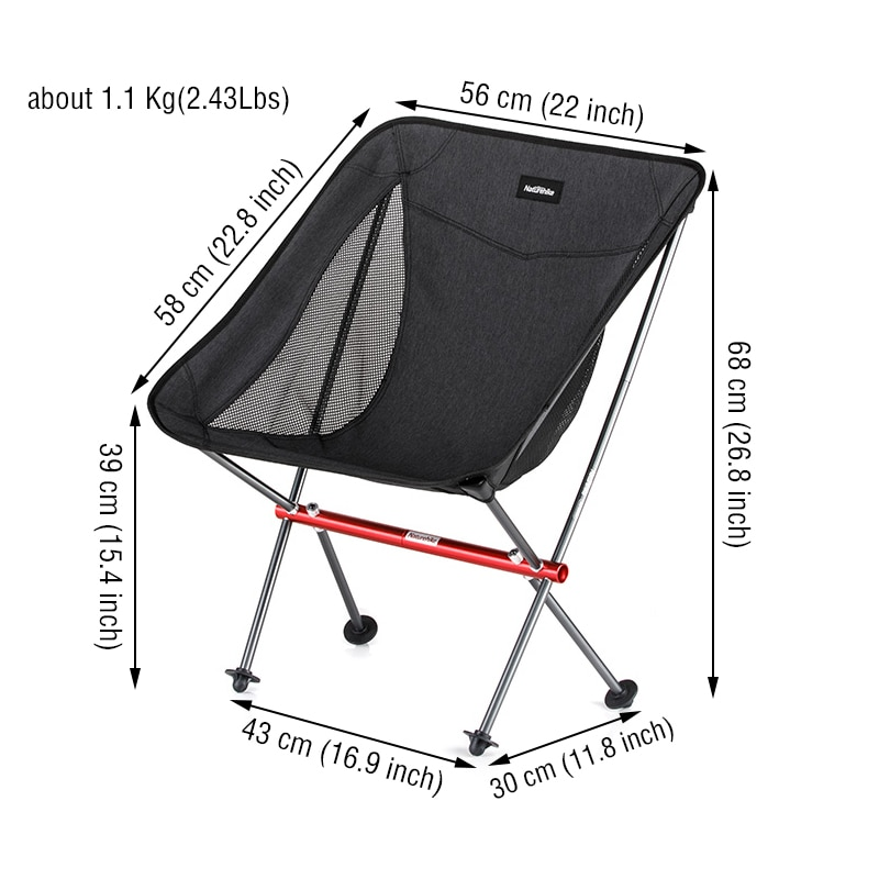 Naturehike Chair Ultralight Folding Fishing Chair Portable Foldable Lawn Chair Outdoor Travel Picnic Hiking Beach Camping Chairs enlarge