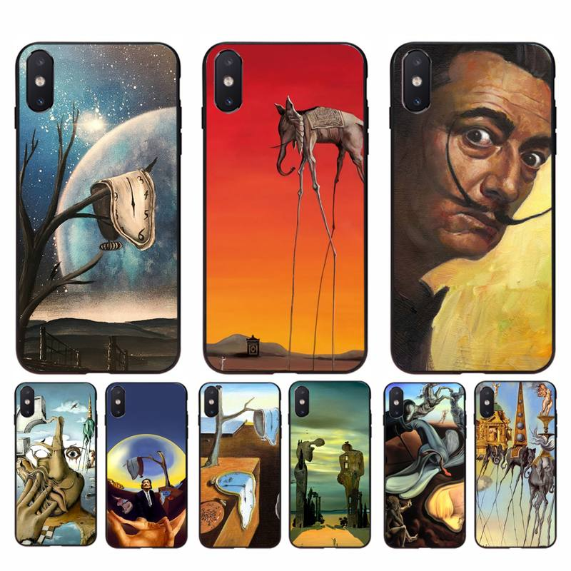 Motirunner Salvador Dali pintura arte funda de teléfono de lujo para iphone 11 Pro Max X XS X máx. 6s 6 7 8 plus 5 5S 5SE XR SE2020