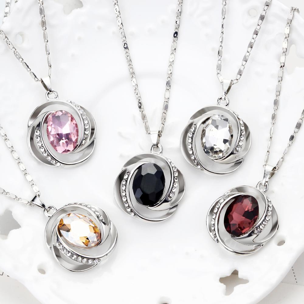 MINHIN, cristal recién llegado, colgantes, collar, pendientes, conjuntos africanos, conjunto de bisutería para mujeres, accesorios de boda