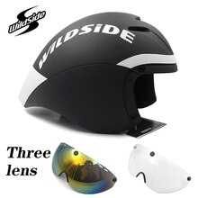 Nouveau TT casque de vélo Aero racing avec lunettes casque de cyclisme sport casque de sécurité dans le moule Casco Ciclismo Triathlon casque de vélo