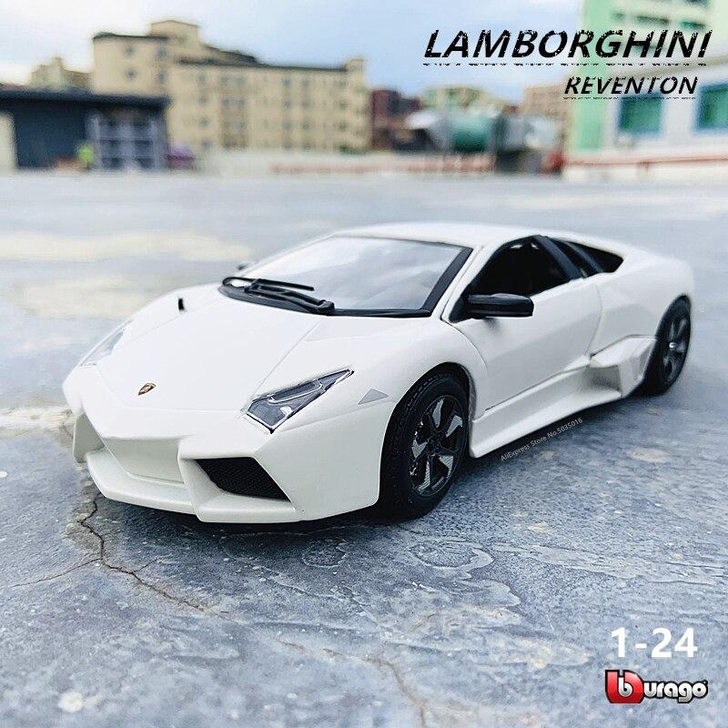 Bburago 124 Lamborghini Reventon modèle de voiture en alliage moulé sous pression collection cadeau jouet original usine autorisé rapport de voiture réel