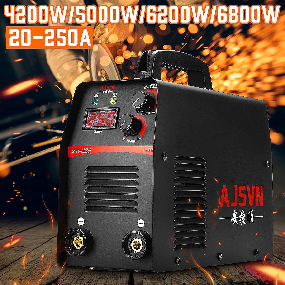4200/5000/6200/6800W Inverter Arc Electric Welding Machine 4 Type LCD Display Welder Tools for Home DIY Beginner Efficient