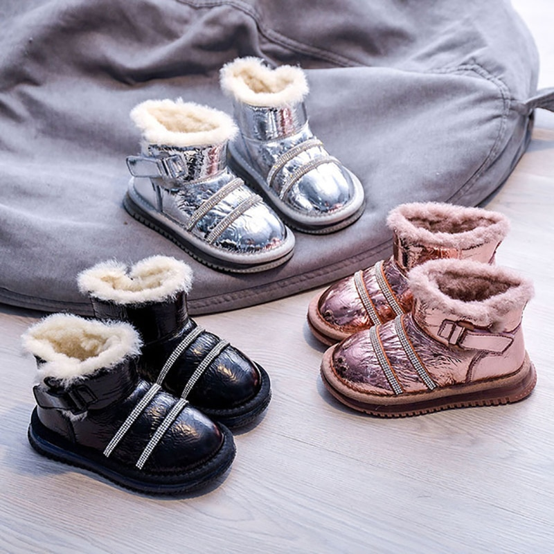 dolakids-new-winter-girls-boots-high-top-thick-cotton-boots-warm-shoes-for-children-fashionable-baby-shoes