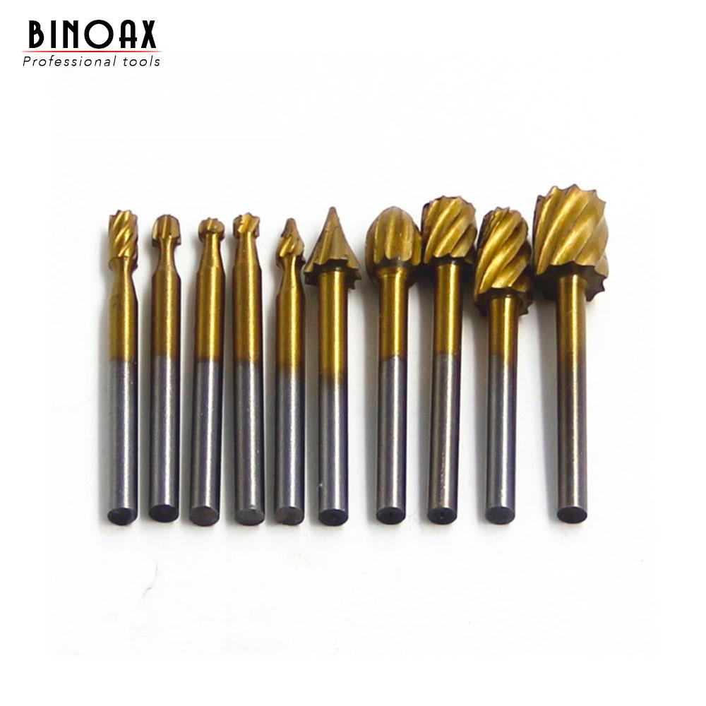 """10 vnt. Titano """"Dremel"""" frezavimo medienos rotacinis frezavimas, rotacinis dildės pjaustytuvas, medžio drožyba, raižytų peilių pjovimo įrankiai"""