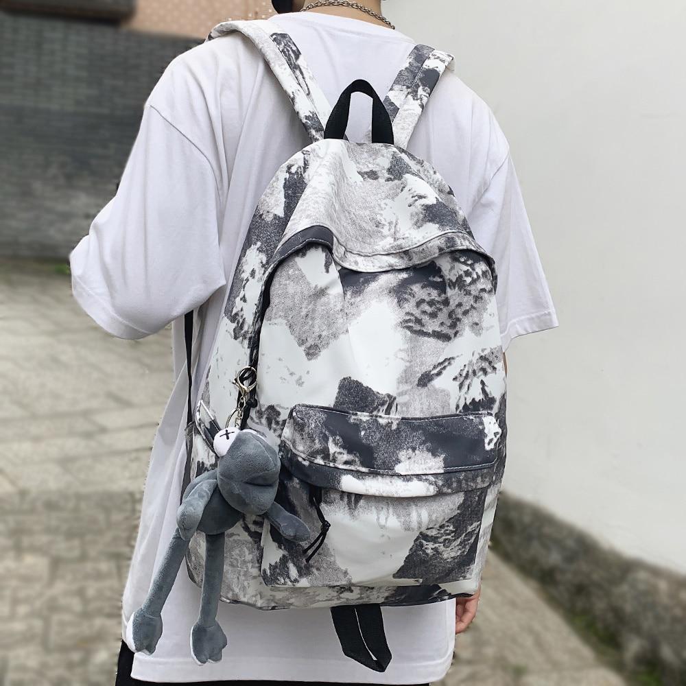 Рюкзак с принтом граффити для мужчин и женщин, нейлоновый модный школьный ранец в стиле Харадзюку для девушек и студентов, сумка для книг и у...