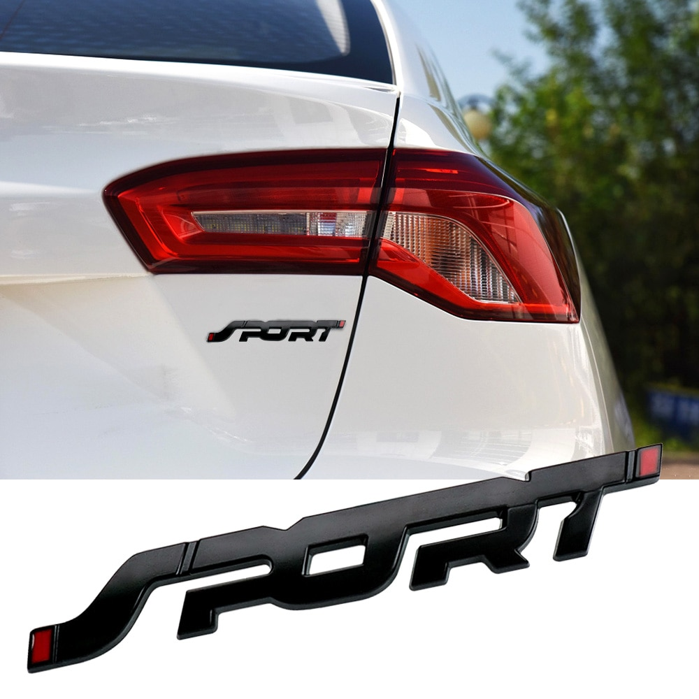 3D Metal deporte placa maletero de coche Hood palabra cartas logotipo insignia pegatina para Renault, Mazda Mitsubishi Ford Focus Mondeo EXPLORER