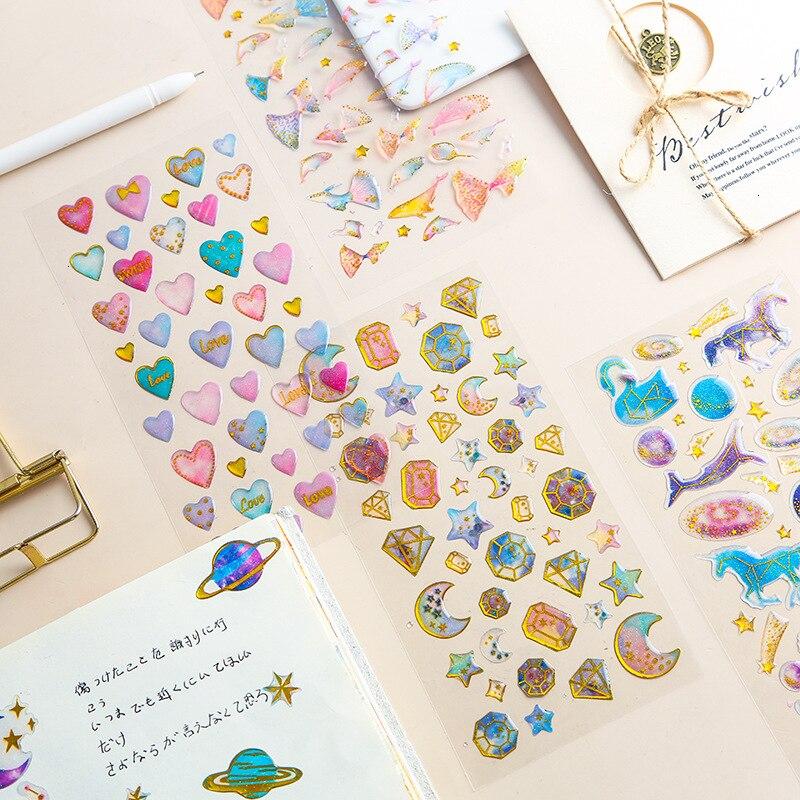Bonita pegatina de gato Kawaii de PVC transparente, pegatina manual, decoración DIY, diario, foto, regalo, papelería estudiantil, arte 06562