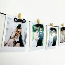 Banderole décorative en bois 10 pièces   Mini moustache pinces à linge, Clips pour la fête de la fête des pères