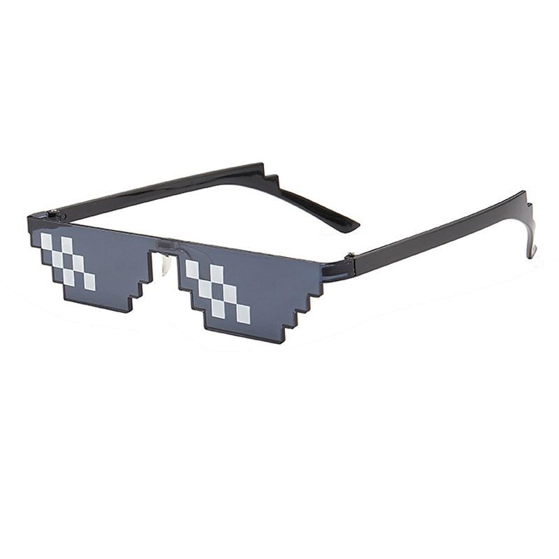 Фото - Новинка 2021, мозаичные солнцезащитные очки, игрушечные очки для розыгрышей, очки «Deal With It», пиксельные женские и мужские черные мозаичные сол... солнцезащитные очки pixel crew deal with it