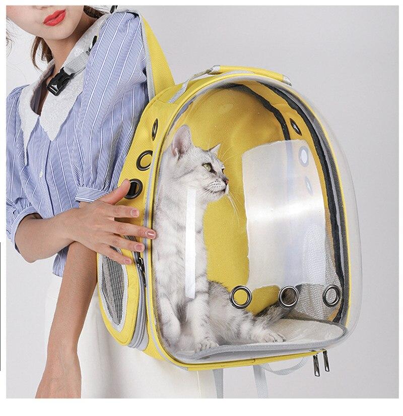 Portable Pet Carrier Bag Breathable Cat Bag Outdoor Travel Backpack for Cat and Dog Transparent Space Pet Backpack Bag for Cat