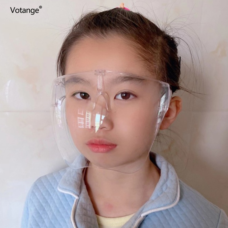 Boy's Girls's Faceshield Protective Glasses Children Goggles Safety Glasses Mask Kids Face Shield Go