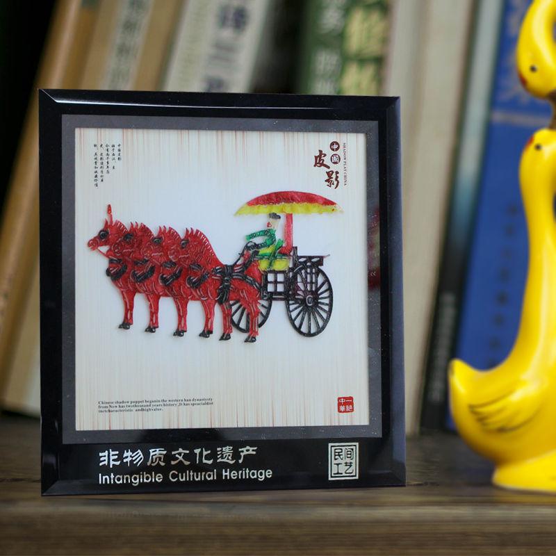 Китайский Стиль ремесло Сувениры театр теней подарки Терракотовая плитка украшения для рамок для путешествий Сувениры небольшие подарки
