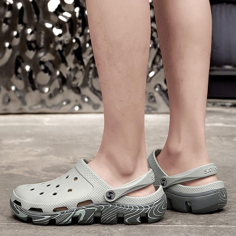 2020 Men Sandals LiteRide Hole Shoes Rubber Clogs For Men EVA Unisex Garden Shoes white Adulto Cholas Hombre