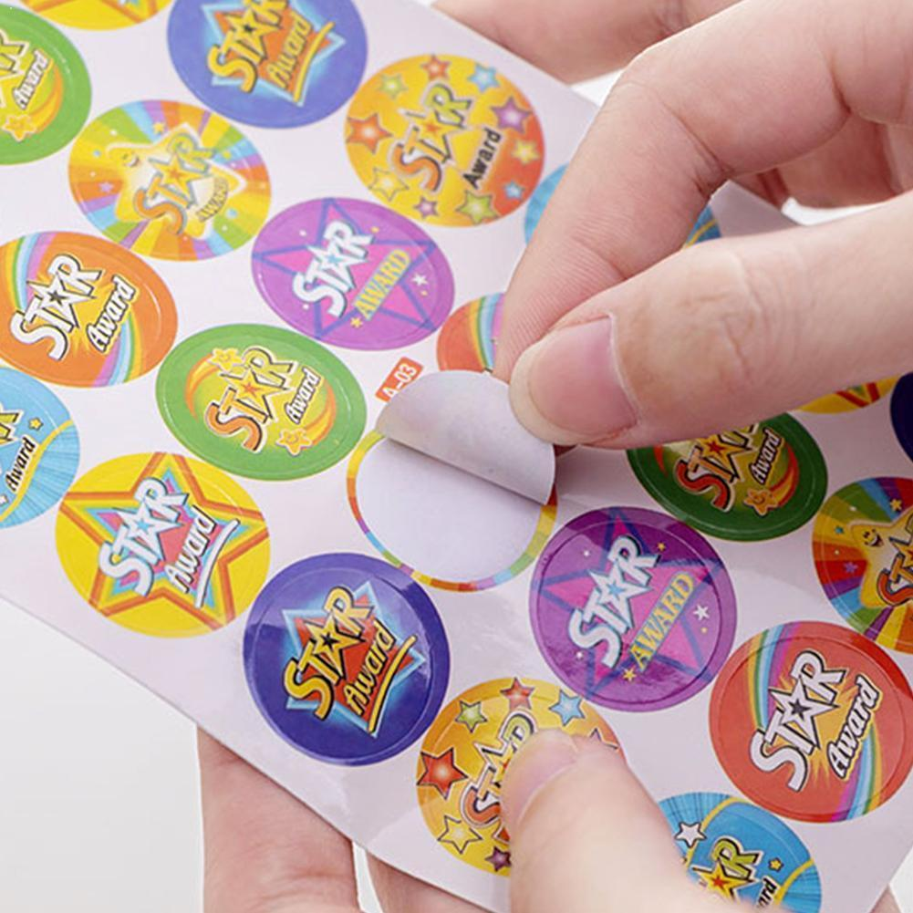10pcs/Set Cartoon Bubble Stickers Children Reward Sticker Label Mother For Kids Toys Teacher Praise