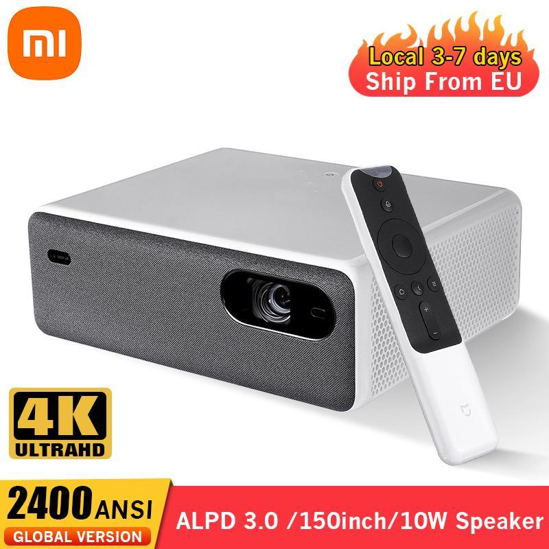 شاومي ميجيا جهاز عرض ليزر 4K 150 بوصة ALPD3.0 جهاز عرض ليزر 2400 ANSI واي فاي بلوتوث 10 واط مكبر صوت المسرح المنزلي العارض