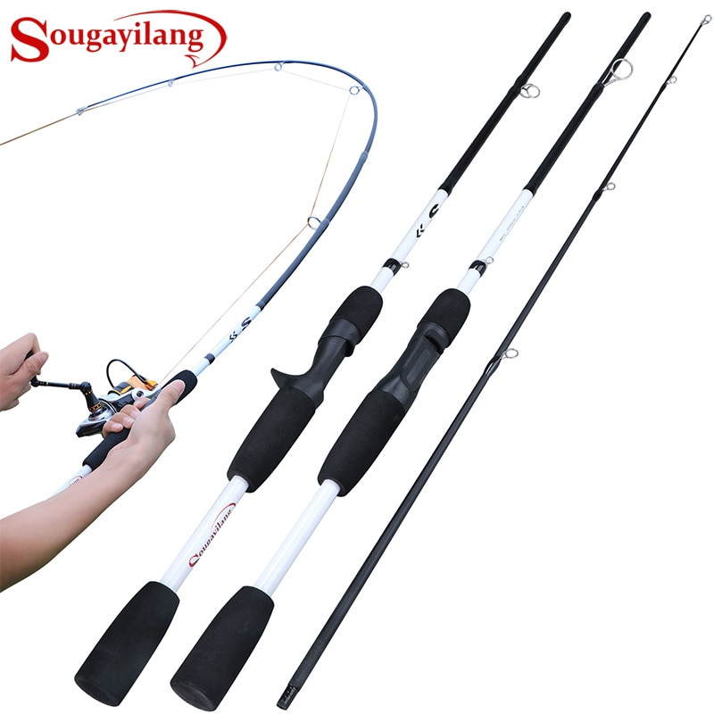 Sougayilang 2/3 Sections Carbon Fiber Spinning/Casting Fishing Rod Ultralight Weight Fishing Pole Travel Rod Fishing Pesca obei purista carp fishing rod carbon fiber fuji spinning rod pesca 3 5 3 0lb power 40 160g 3 60m hard pole surf rod