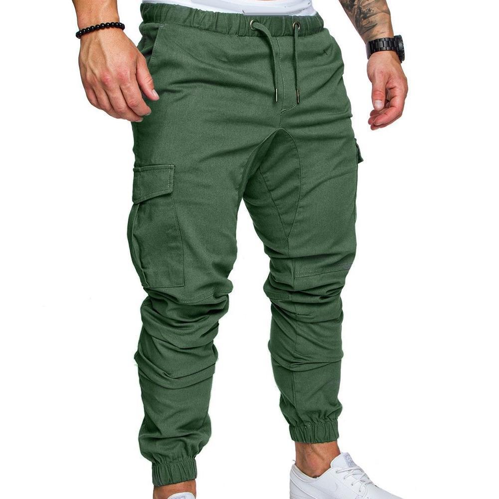 Pantalones informales para hombre, ropa de calle con bolsillos, cordón de cintura,...