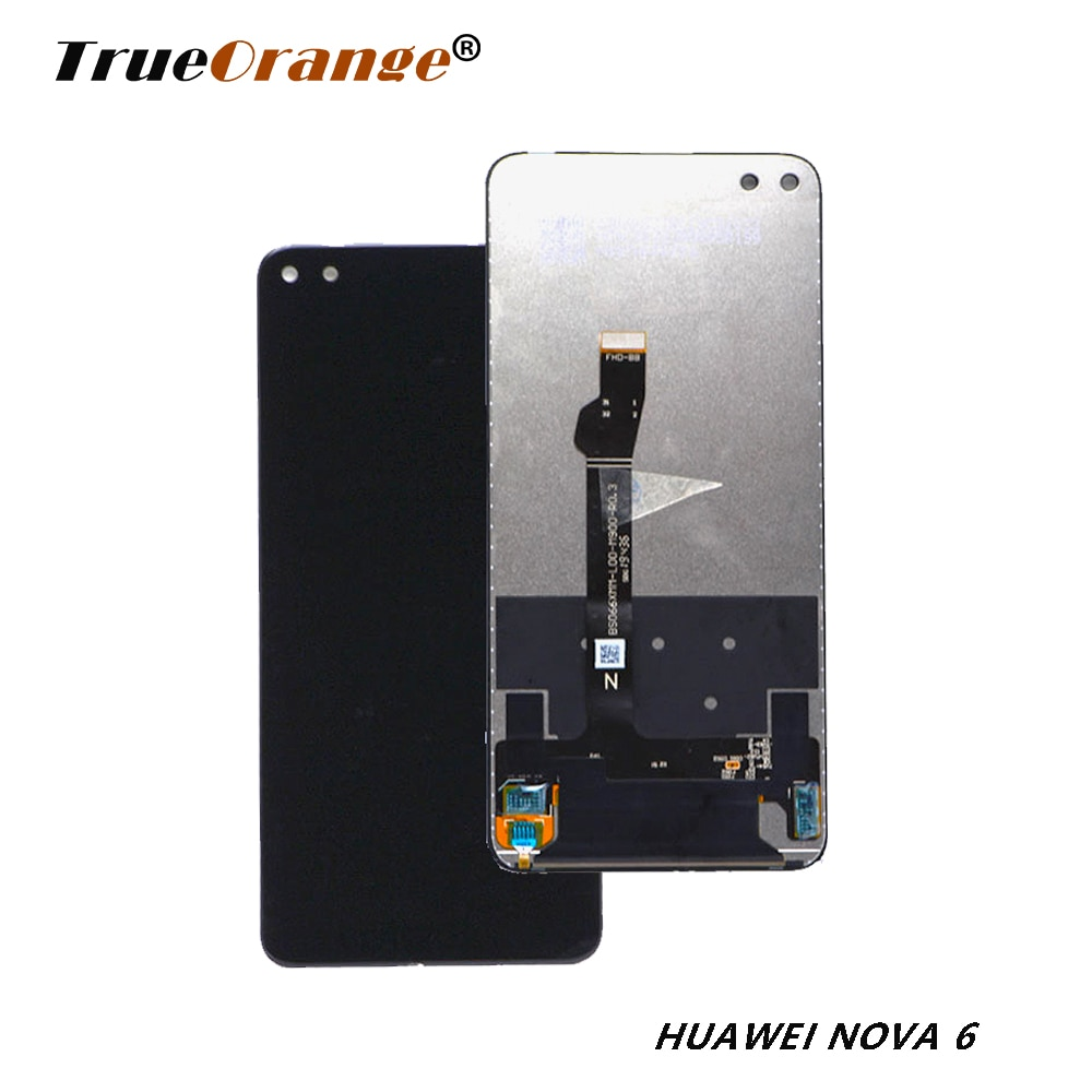 LCD para Huawei Nova 6 LCD pantalla Digitalizador de pantalla táctil Sensor de cristal montaje completo para Huawei Honor V30 LCD envío gratis