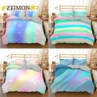 zeimon kids colorful glitter bedding set women girls shining duvet cover with pillowshams 23 piece trendy bedclothes