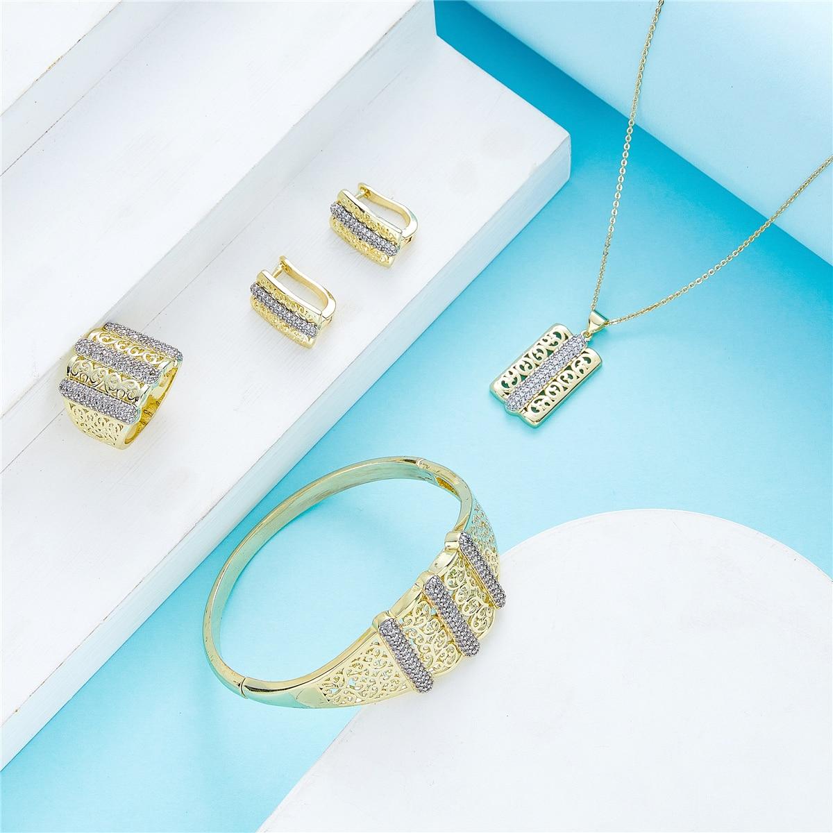 2021 مايو المغرب الساخن بيع اكسسوارات مجموعة مجوهرات الزفاف للنساء المجوهرات التقليدية مجموعة النحاس عالية الجودة مجموعة مجوهرات
