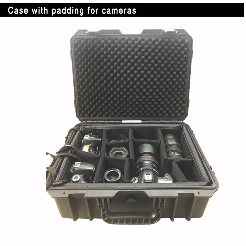 SQ45L2 External 520*380*235 mm plastic Portable trolley case with padding