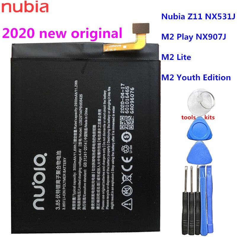 100% оригинальный новый аккумулятор 3000 мАч Li3829T44P6h806435 для ZTE Nubia Z11 NX531J / M2 Play NX907J / M2 Lite / M2 Youth Edition