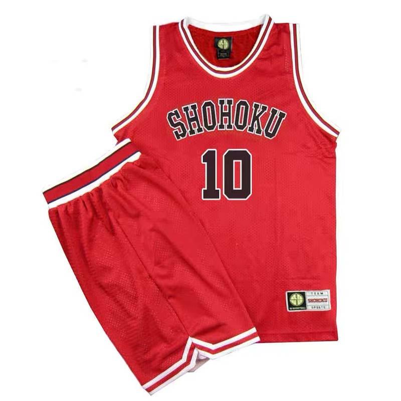 Shohoku School Basketball Team Jersey Rukawa Hanamichi Sakuragi Jersey Sports Wear Uniform Anime Cosplay Costume Sets