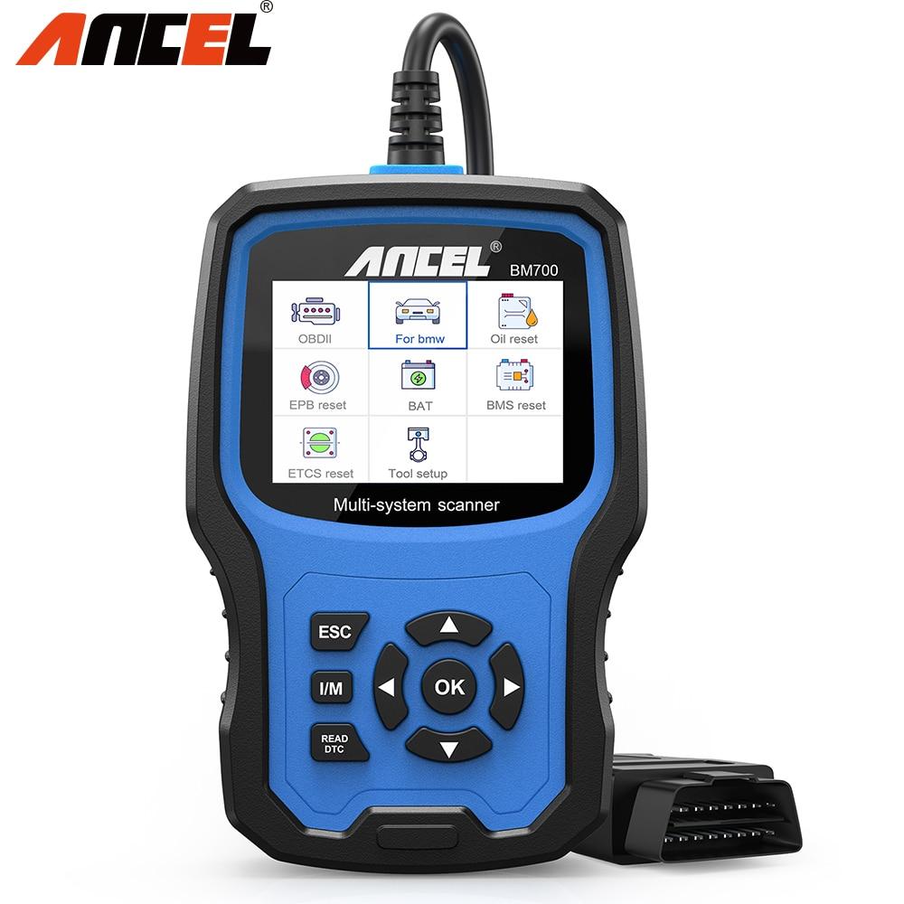 Ancel bm700 obd2 scanner para bmwx5 bateria registro serviço de óleo epb sas srs obd 2 ferramenta diagnóstico obdii scanner automotivo