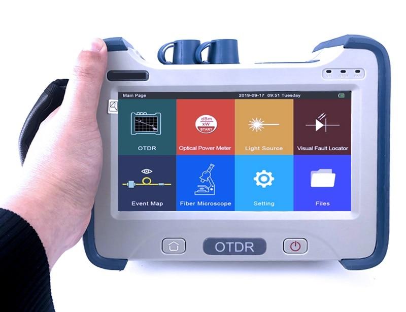 Fiber Optic OTDR Reflectometer with OPM OLS VFL Event Map Touch Screen Fibra Optica Fibre Optique OTDR