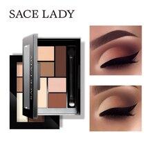 SACE LADY paillettes fard à paupières Palette maquillage imperméable Pigment cosmétiques 6 couleurs miroitant ombre à paupières Palette mat maquillage nu