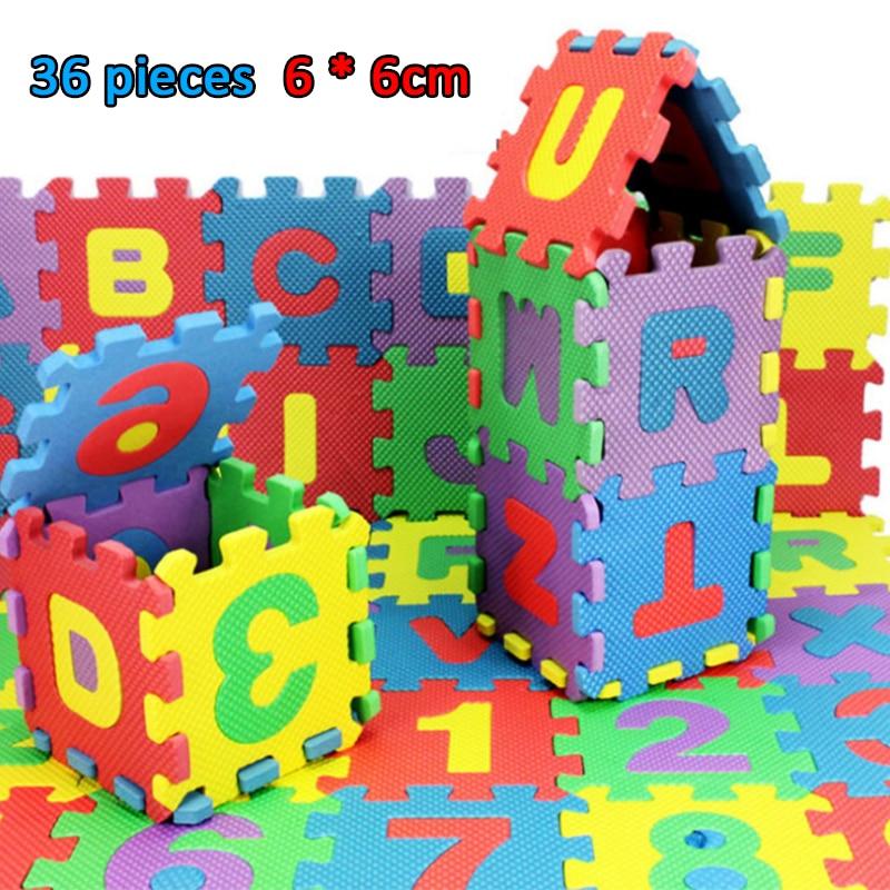 36 قطعة الأبجدية تلعب الحصير طفل الاطفال صبي فتاة اللعب Interlock لينة إيفا رغوة أرضيات على شكل بازل السجاد الطفل دروبشيبينغ مركز