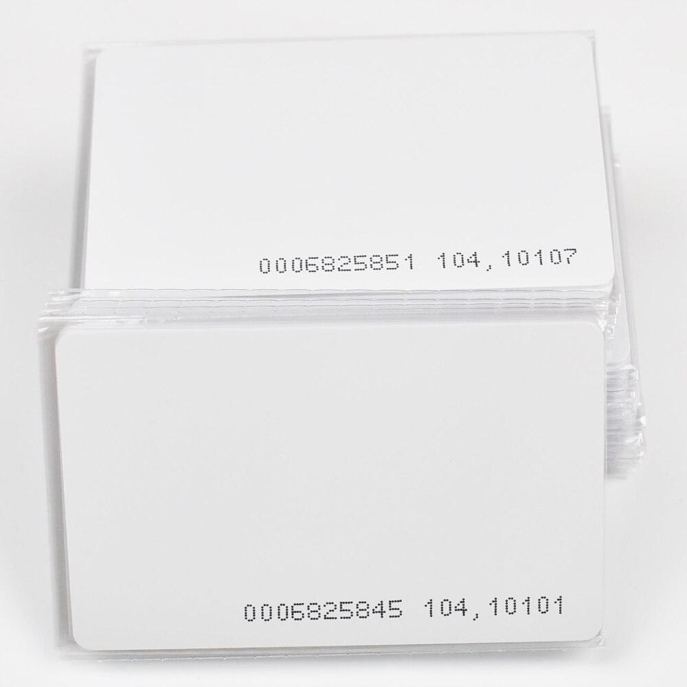 10 pçs/lote TK4100 4102 /EM 4100 chip RFID 125KHz cartão em branco Fina PVC Cartão de ID Inteligente