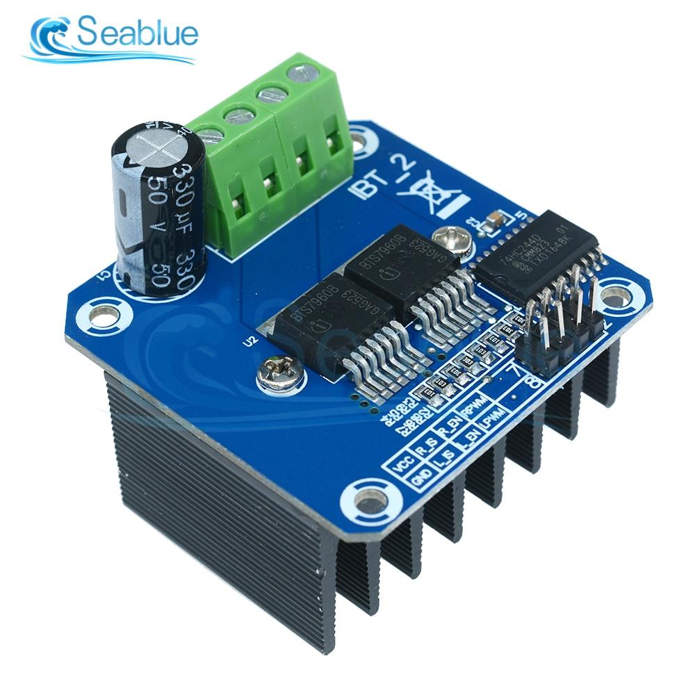Double BTS7960 B BTS7960B 43A H-Bridge high power Motor Driver Module Board For Arduino MCU Smart Ca