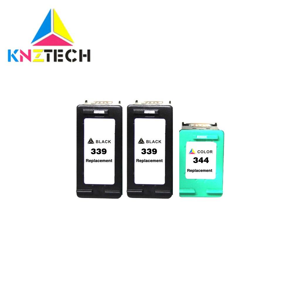 Cartucho de tinta KNZTECH 339 344 compatible con hp 339 hp 344 para impresora hp officejet 339 7210 7313 7410 Photosmart 2710 8450