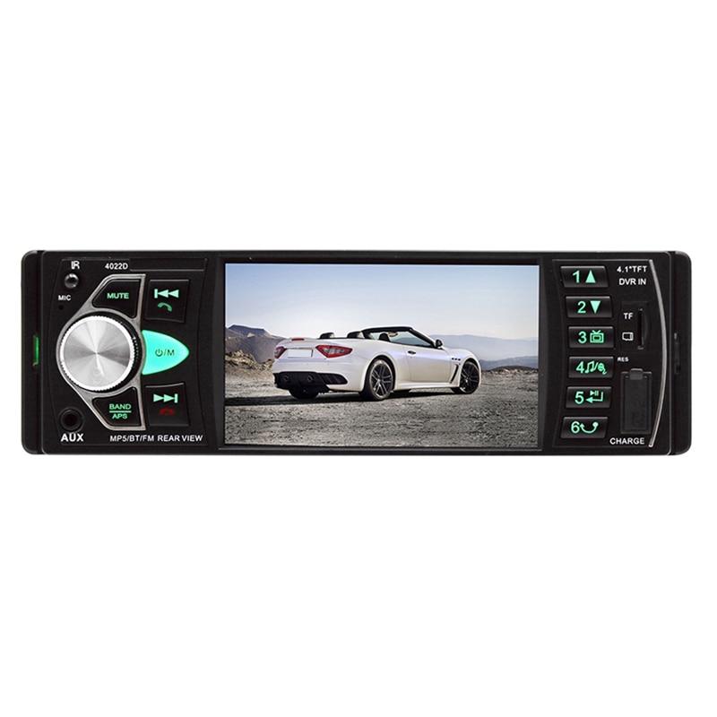 1Din 4.1 인치 자동차 라디오 자동 o 스테레오 Fm 블루투스 2.0 Mp5 플레이어 후면보기 카메라