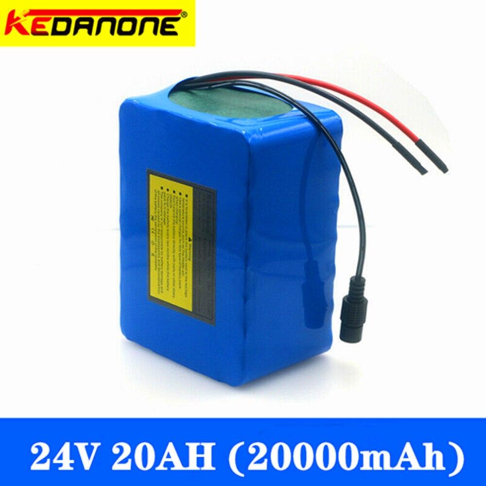 Kedanone 6S6P 24 فولت 20 أمبير 25.2 فولت بطارية ليثيوم حزمة بطاريات للكهرباء دراجة نارية ebike سكوتر كرسي متحرك كروبر مع BMS