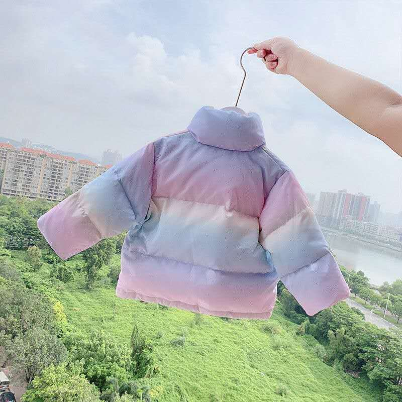 New 2021 Winter Children Cotton Padded Jacket for Girls Thickened Warm Coat Kids Girls Fashion Snowsuit Teenager Outerwear D172 enlarge