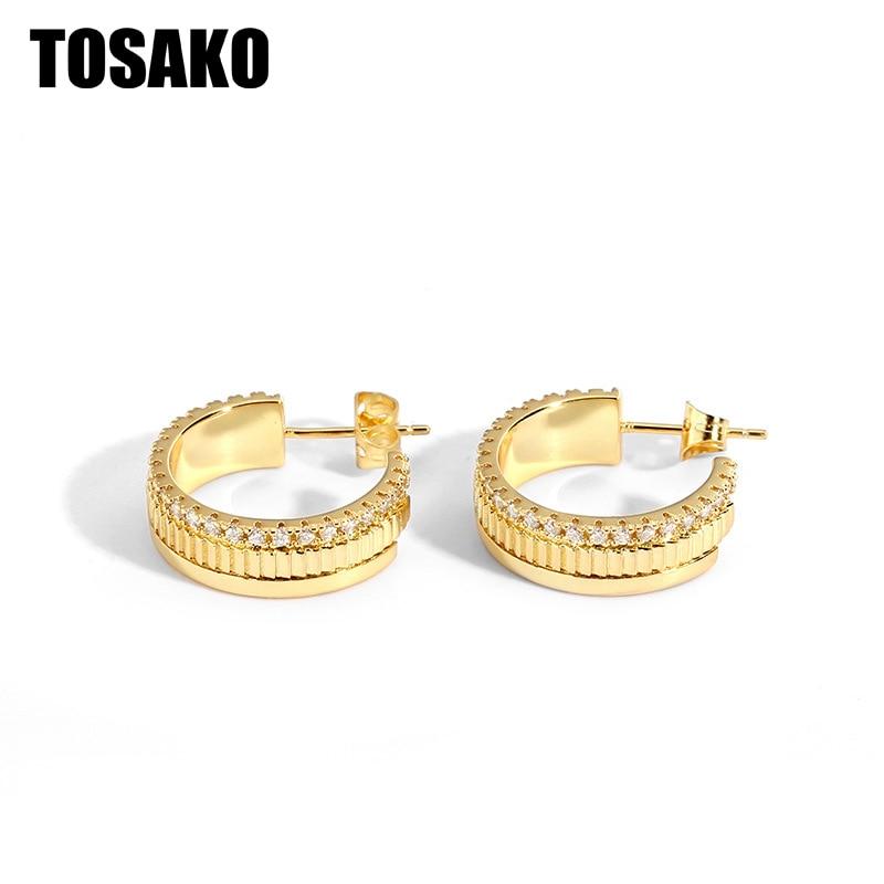 TOSAKO وأقراط للنساء مجوهرات الأزياء شخصية بسيطة الهندسة