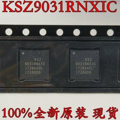 10PCS KSZ9031RNXIC QFN-48 KSZ9031RNXIC-TR QFN48 KSZ9031 9031 Gigabit Ethernet chip de Novo e original