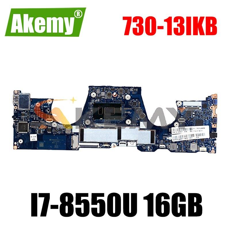 لينوفو اليوغا 730-13IKB اللوحة المحمول DLZP3 LA-F571P ث/وحدة المعالجة المركزية i7-8550U 16GB-RAM اختبار FRU 5B20Q95856 اللوحة الرئيسية
