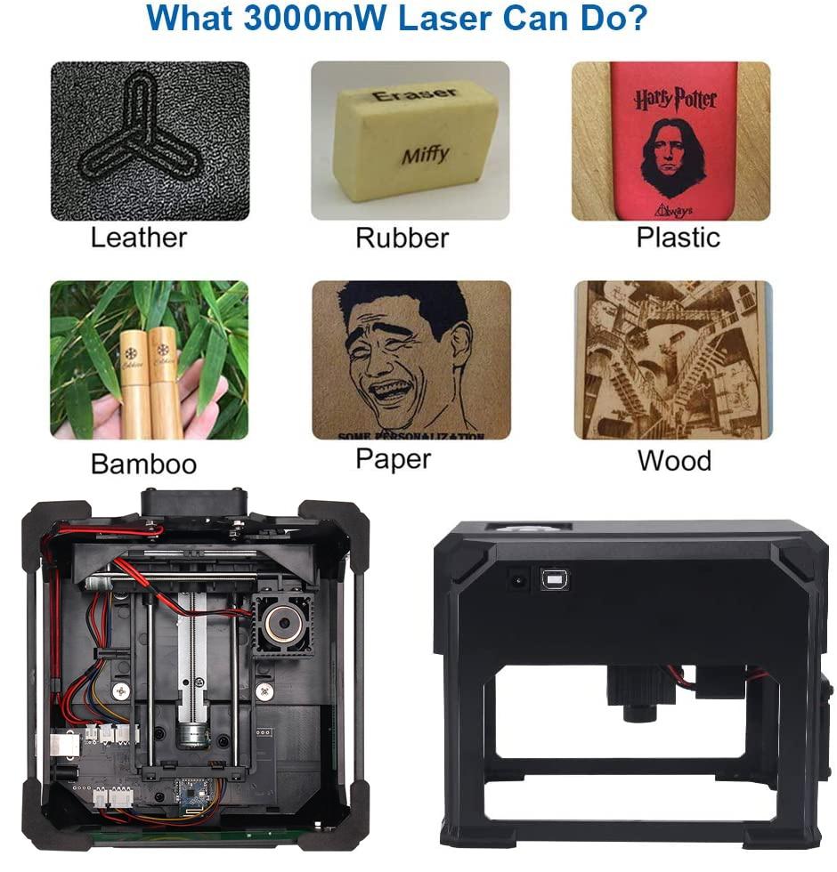 Incisore laser CNC 3000mw fai da te, stampante laser logo, mini - Attrezzature per la lavorazione del legno - Fotografia 6