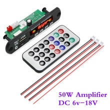 ARuiMei flac  2*25W-12V Bluetooth5.0 MP3 Decoding Board Module Wireless Car USB MP3 Player TF Card S