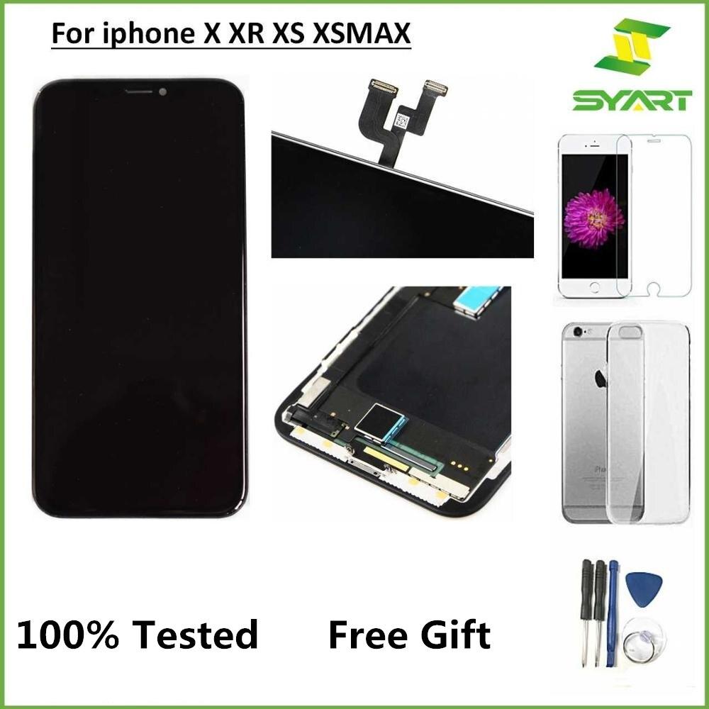 شاشة LCD ل iphoneX XS XR 11 برو ماكس LCD عرض OLED تعمل باللمس محول الأرقام الجمعية ل فون X XS XR XS ماكس مع حامل