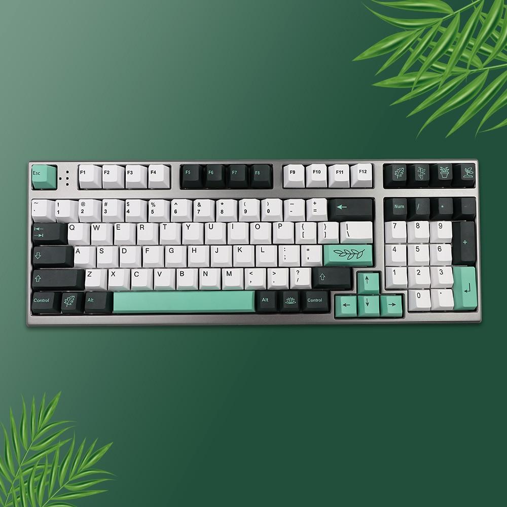 137 клавиш, ботанические клавиши PBT, колпачки для клавиш Cherry Profile, персонализированные колпачки для механической клавиатуры GK61 64 84 96, клавиши с...