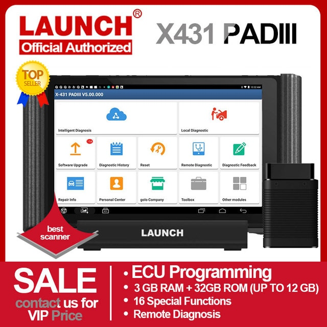 Старт X431 PAD III V2.0 X 431 диагностический сканер Авто OBD OBDII диагностический инструмент 1000 + программное обеспечение для программирования ЭБУ автомобиля OBD2 сканер
